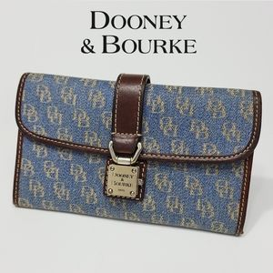Dooney & Bourke Denim Signature Clutch Wallet Jean